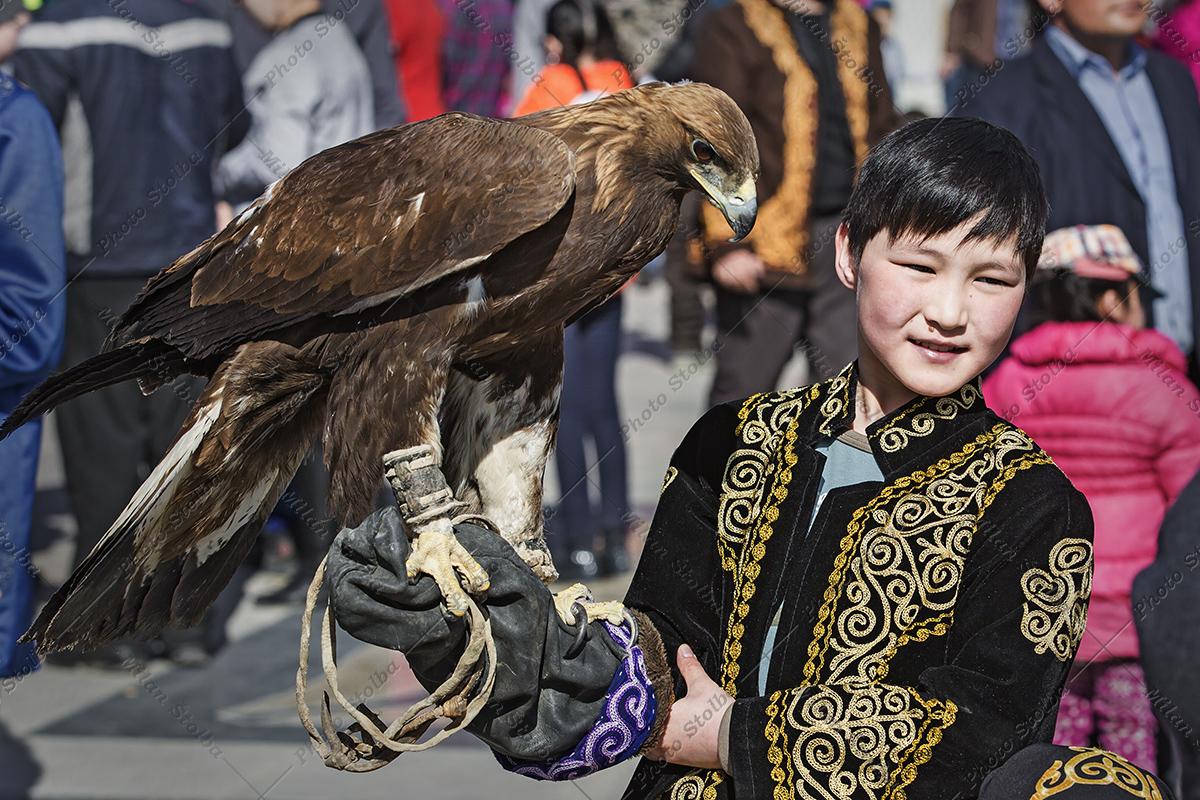 Kazašští sokolníci