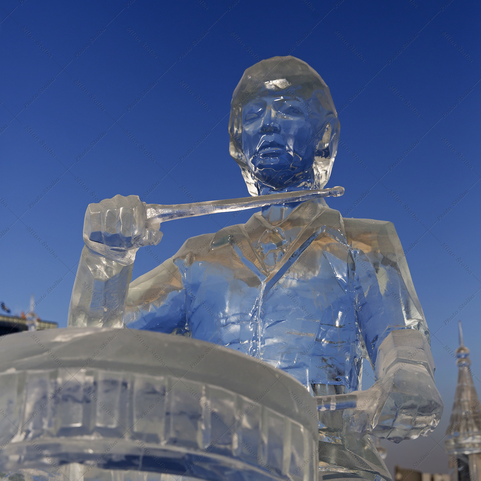 Ledové sochy Beatles